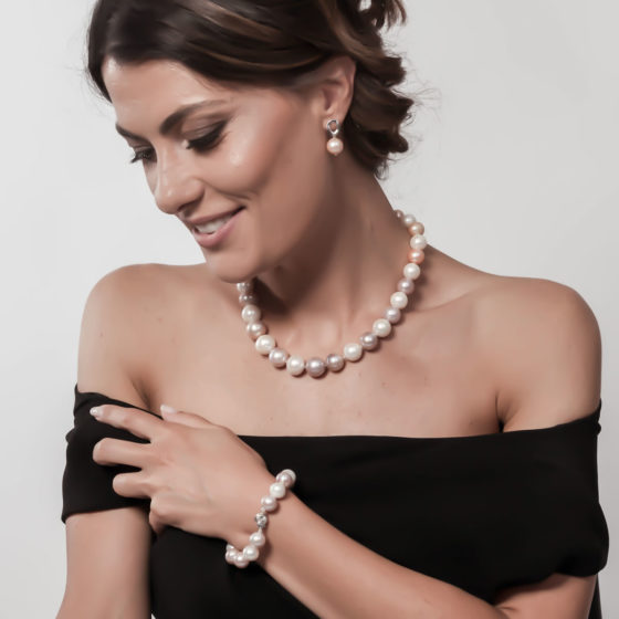 Bracciale di perle multicolor: Giove