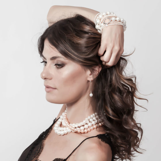 Braccialetto perle di fiume: Amulett - Romantica ~ Bracciali di perle Eliotis