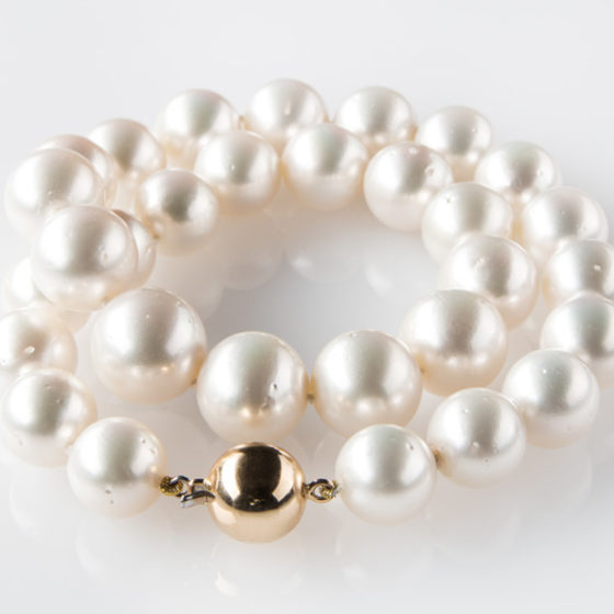 Collana perle australiane e oro