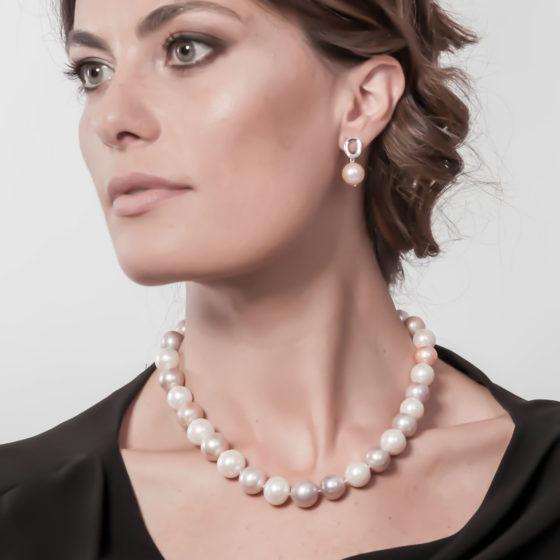 Collier oro perle multicolor: Giove