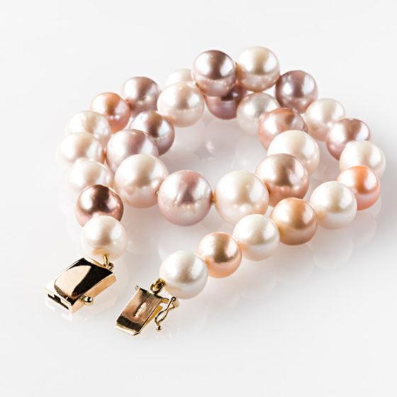 Collier oro perle multicolor