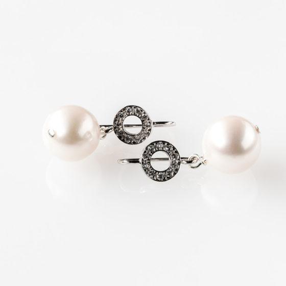Orecchini argento perle rosa d'acqua dolce