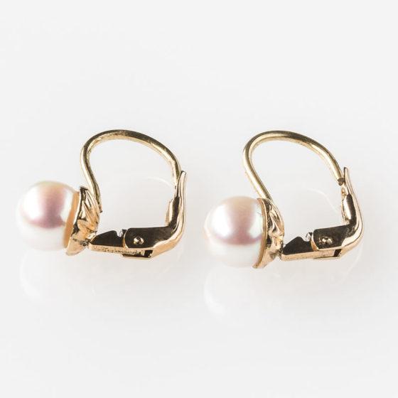 Orecchini perle Akoya e oro giallo